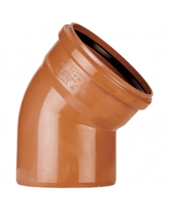 Polypipe 110mm Underground Drainage Single Socket 45 Degree Short Radius Bend