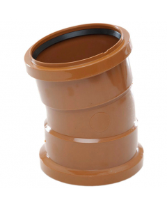 Polypipe 110mm Underground Drainage Double Socket 11.25 Degree Short Rad Bend