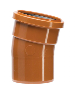 Polypipe 110mm Underground Drainage Single Socket 11.25 Degree Short Rad Bend