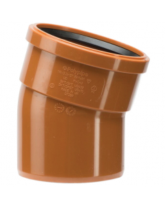 Polypipe 110mm Underground Drainage Single Socket 15 Degree Short Radius Bend
