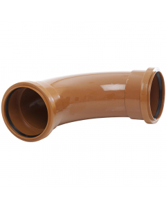 Polypipe 110mm Underground Drainage Double Socket 87.5 Degree Short Radius Bend