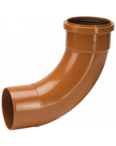 Polypipe 110mm Underground Drainage Single Socket 87.5 Degree Short Radius Bend