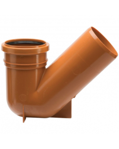 Polypipe 110mm Underground Drainage 45 Degree Universal Gully Trap