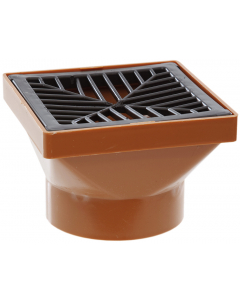 Polypipe 110mm Underground Drainage Square Hopper and Square Grid