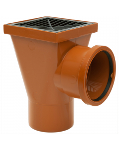 Polypipe 110mm Underground Drainage Back Inlet Square Hopper