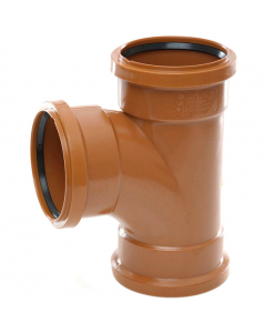 Polypipe 110mm Underground Drainage Triple Socket 87.5 Degree Equal Junction