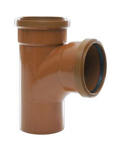 Polypipe 110mm Underground Drainage Double Socket 87.5 Degree Equal Junction