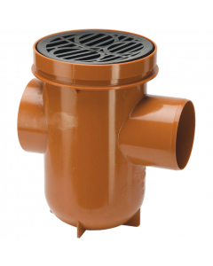 Polypipe 110mm Underground Drainage Back Inlet Bottle Gully
