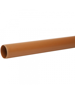 Polypipe 110mm Underground Drainage Plain End Pipe - 3 Metre