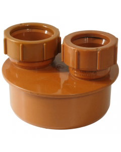 Polypipe 110mm Underground Drainage Double Waste Pipe Adaptor - 32mm & 40mm