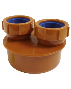 Polypipe 110mm Underground Drainage Double Waste Pipe Adaptor - 40mm
