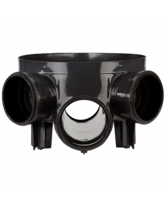 Polypipe Underground Drainage Access Chamber Base with 5 Inlets - 320mm
