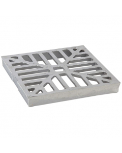 Polypipe 207mm Large Square Aluminium Flush Grid