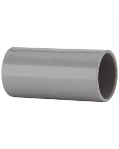 Polypipe 21.5mm Push Fit Overflow Straight Connector - Grey