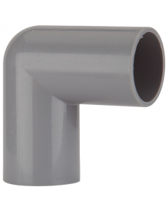 Polypipe 21.5mm Push Fit Overflow 90 Degree Knuckle Bend - Grey