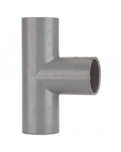 Polypipe 21.5mm Push Fit Overflow 90 Degree Tee - Grey
