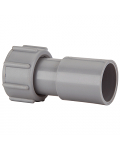 Polypipe 21.5mm Push Fit Overflow Straight Adaptor - Grey