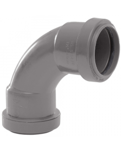 Polypipe 40mm Push Fit Waste 91.25 Degree Swept Bend - Grey