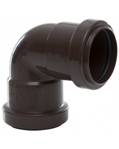 Polypipe 40mm Push Fit Waste 90 Degree Knuckle Bend - Brown