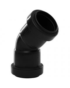 Polypipe 32mm Push Fit Waste 45 Degree Obtuse Bend - Black
