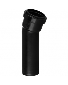 Polypipe 32mm Push Fit Waste 157.5 Degree Soil Boss Bend - Black