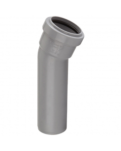 Polypipe 32mm Push Fit Waste 157.5 Degree Soil Boss Bend - Grey