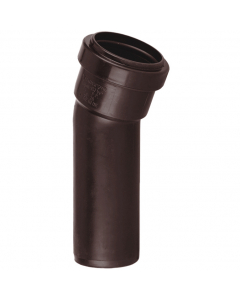 Polypipe 40mm Push Fit Waste 157.5 Degree Soil Boss Bend - Brown
