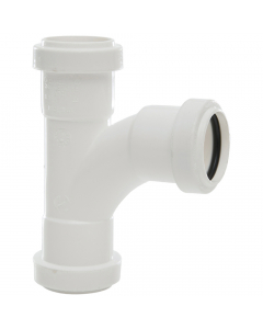Polypipe 32mm Push Fit Waste 91.25 Degree Swept Tee - White