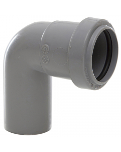Polypipe 32mm Push Fit Waste 91.25 Degree Swivel Bend - Grey