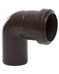 Polypipe 40mm Push Fit Waste 91.25 Degree Swivel Bend - Brown