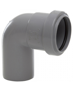 Polypipe 40mm Push Fit Waste 91.25 Degree Swivel Bend - Grey