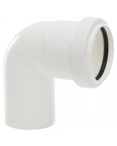 Polypipe 40mm Push Fit Waste 91.25 Degree Swivel Bend - White