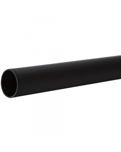 Polypipe 50mm Push Fit Waste Pipe - 3 Metre - Black