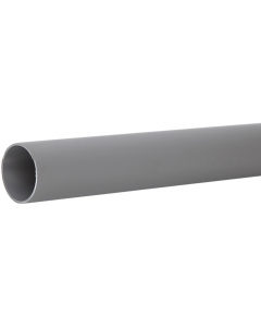 Polypipe 50mm Push Fit Waste Pipe - 1.5 Metre x 2 - Grey