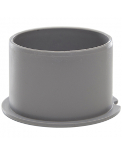 Polypipe 50mm Push Fit Waste Socket Plug - Grey
