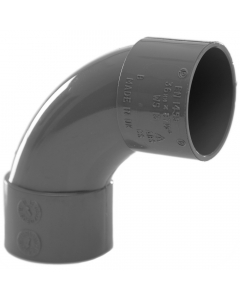Polypipe 32mm Solvent Weld Waste 92.5 Degree Swept Bend - Grey