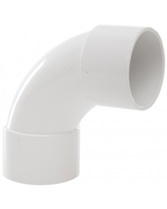 Polypipe 32mm Solvent Weld Waste 92.5 Degree Swept Bend - White