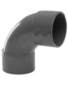 Polypipe 40mm Solvent Weld Waste 92.5 Degree Swept Bend - Grey