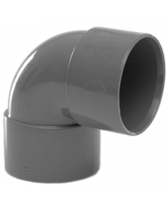 Polypipe 32mm Solvent Weld Waste 90 Degree Knuckle Bend - Grey