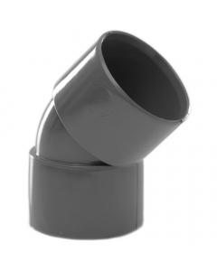 Polypipe 32mm Solvent Weld Waste 45 Degree Obtuse Bend - Grey