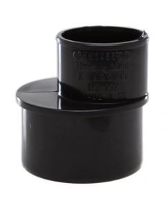 Polypipe 50mm to 32mm Solvent Weld Waste Reducer - Black