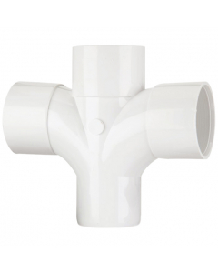 Polypipe 50mm Solvent Weld Waste 92.5 Degree Cross Tee - White