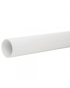 Polypipe 50mm Solvent Weld Waste Pipe - 3 Metre - White