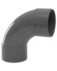 Polypipe 50mm Solvent Weld Waste 92.5 Degree Swept Bend - Grey