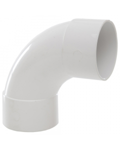 Polypipe 50mm Solvent Weld Waste 92.5 Degree Swept Bend - White