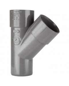 Polypipe 50mm Solvent Weld Waste 45 Degree Junction - Grey