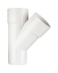 Polypipe 50mm Solvent Weld Waste 45 Degree Junction - White