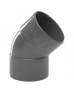 Polypipe 50mm Solvent Weld Waste 45 Degree Obtuse Bend - Grey