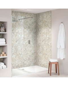 Bushboard Nuance Quarry Soft Mazzarino Bathroom Wall Panel - Finishing Bathroom Wall Panel - 160mm