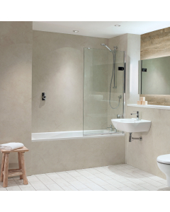 Bushboard Nuance Quarry Alabaster Bathroom Wall Panel - Tongue & Groove - 600mm